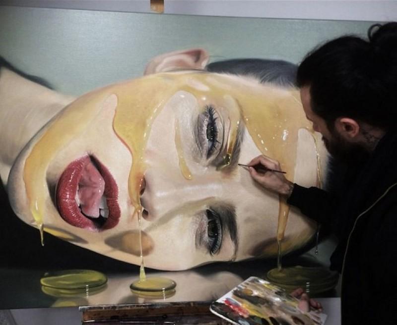 Гиперреалистичные картины Майка Даргаса (22фото)