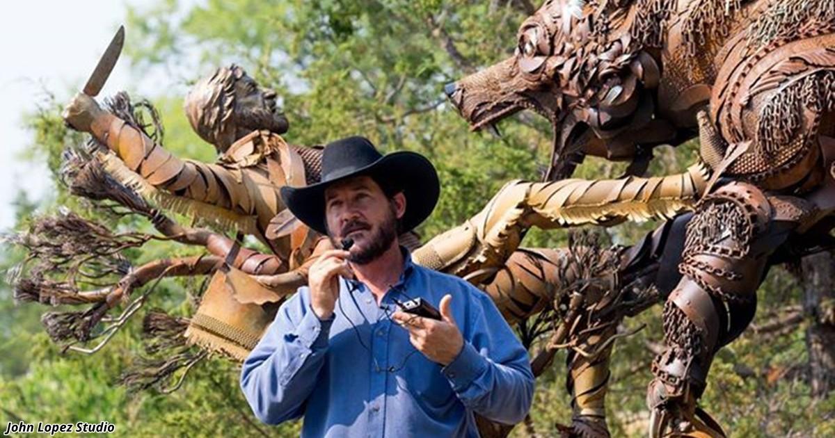 Художник создаёт скульптуры из старой сельхозтехники, которые взорвут вам мозг (19фото)