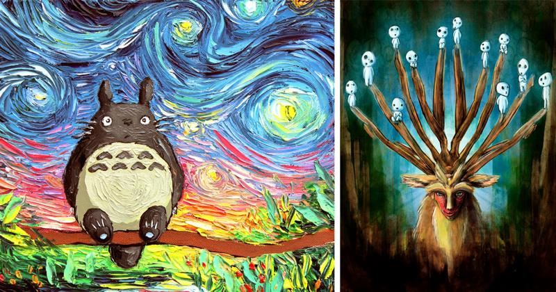 35 вдохновляющих картин по мотивам аниме-фильмов студии Гибли (36фото)