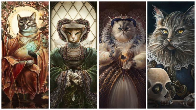 Изумительные портреты котов в исторических и сценических костюмах (12фото)