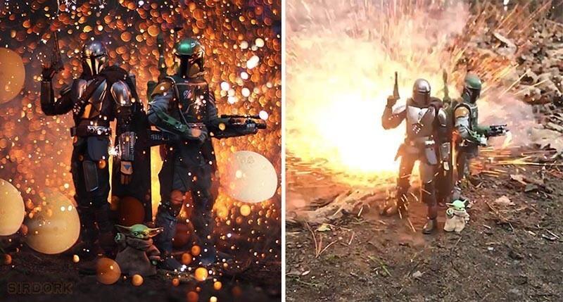 Фотограф снимает эпические боевые сцены с помощью игрушек (30фото)