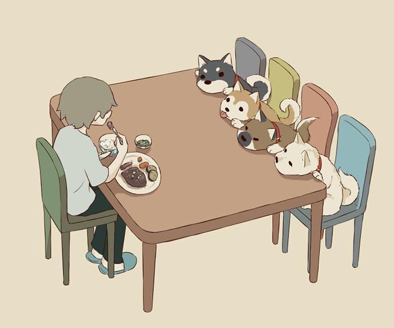 Иллюстрации японского художника о чувствах, которые трудно передать (30фото)