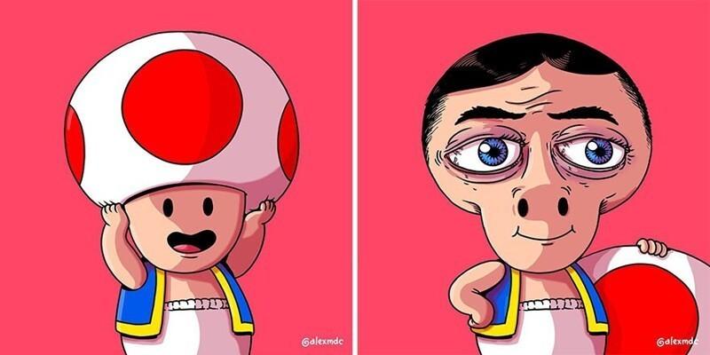 Тревожное закулисье поп-культуры: комиксы для любителей черного юмора (30фото)