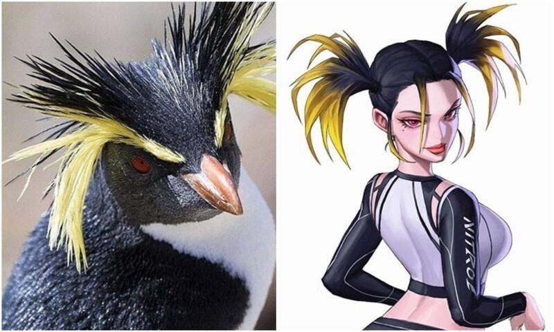 Корейский художник превратил животных в персонажей аниме (24фото)