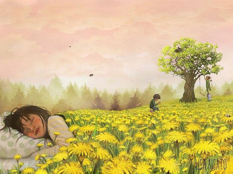 Сюрреалистические и многозначительные иллюстрации Лизы Айсато (29фото)