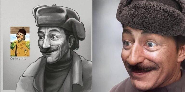 8 героев советских мультфильмов в более реалистичной манере (9фото)