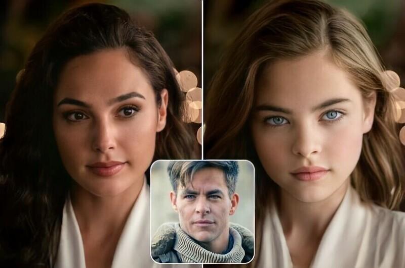 Фотохудожник с помощью нейросети показал, как выглядели бы дети известных экранных пар (21фото)