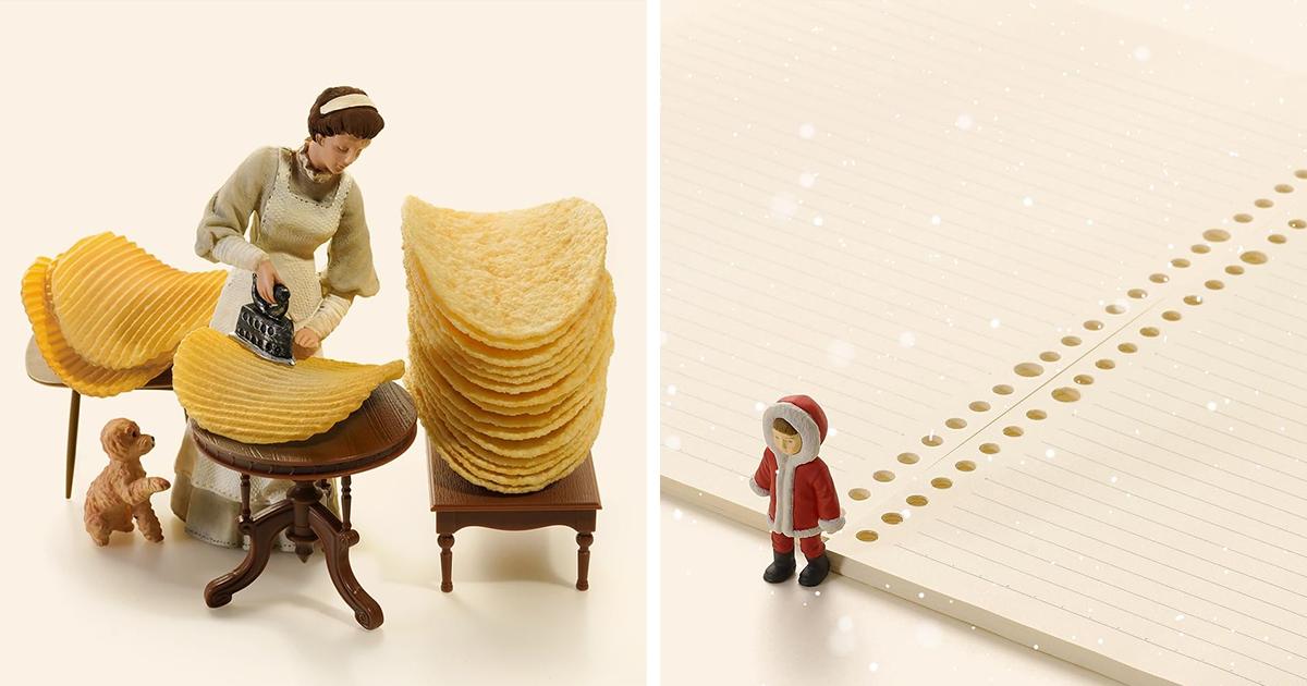 Трогательные миниатюрные диорамы от японского художника (46фото)