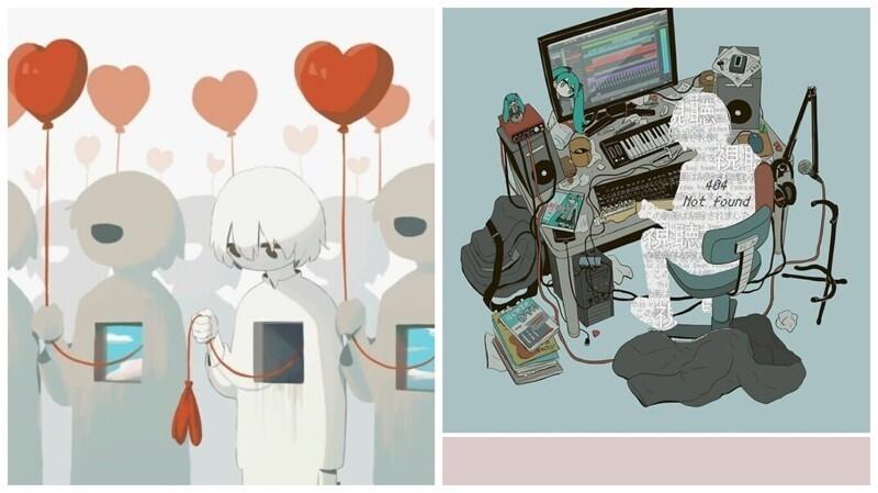 Грустные иллюстрации японского художника, которые заставят задуматься (41фото)