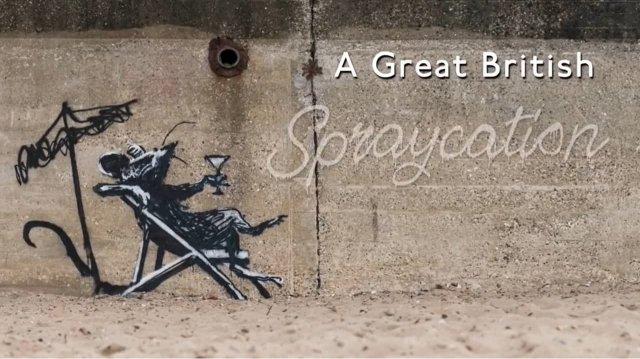 Новые работы британского уличного художника Бэнкси на восточном побережье Англии (9 фото + видео)