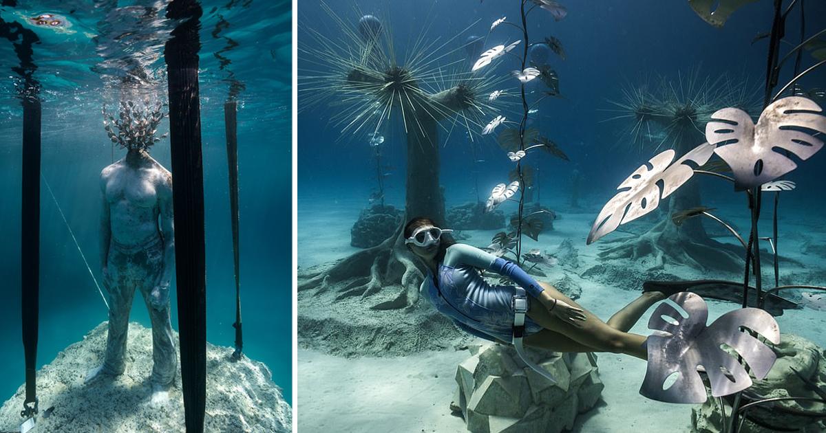 Скульптор создал сказочный подводный лес у побережья Айя-Напы (14фото+1видео)