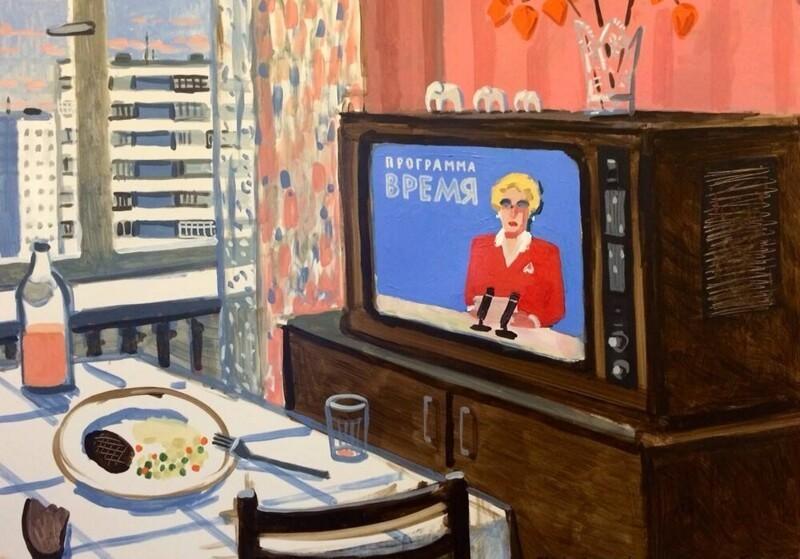 «Советское детство»: наивно честные рисунки Зои Черкасской (47фото)