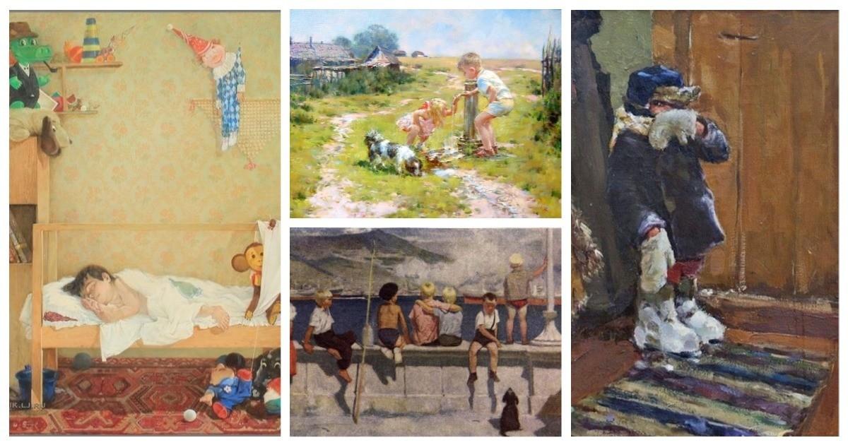 20 картин советских художников, от которых щемит на душе: вся правда о детстве на холсте (20фото)