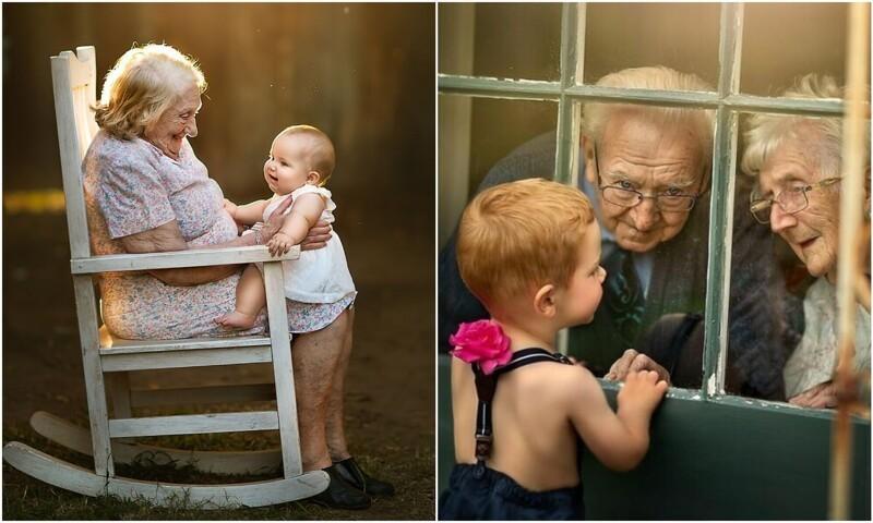 Они всегда рядом: фото бабушек и дедушек с внуками, которые греют душу (28фото)