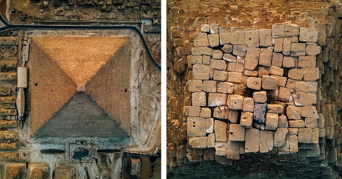 Потрясающие фотографии пирамиды Хеопса с высоты птичьего полета (7фото)