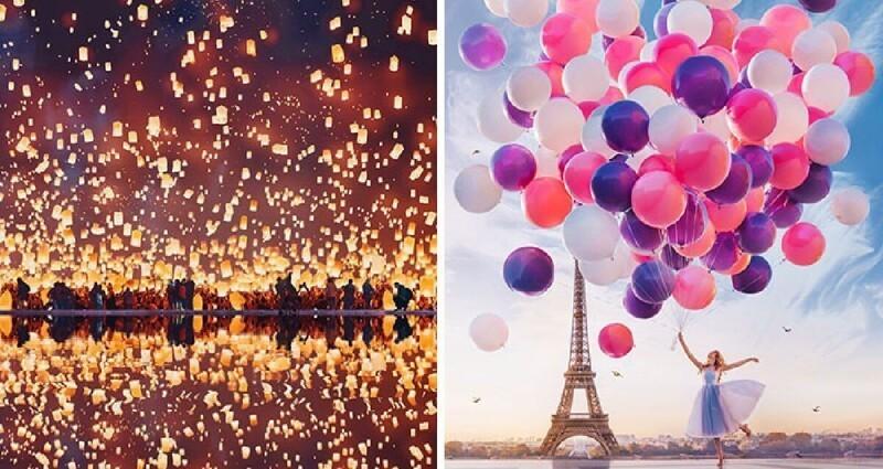 Воздушные шары, небесные фонарики и мыльные пузыри на снимках Кристины Макеевой (31фото)
