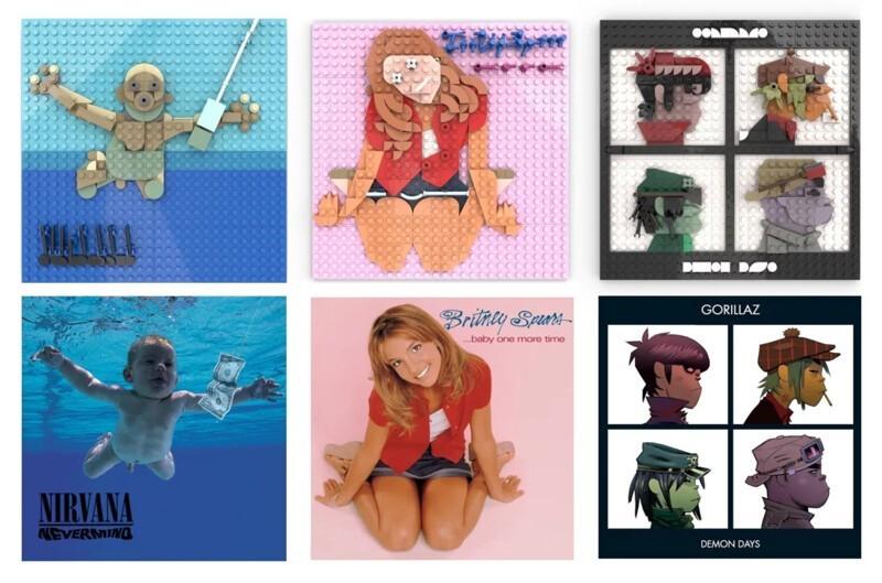 Художник с помощью LEGO воссоздает обложки популярных музыкальных альбомов (33фото)