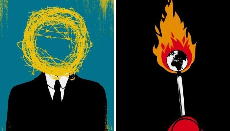 Художник создает иллюстрации о проблемах современного общества, понятные без слов (23фото)