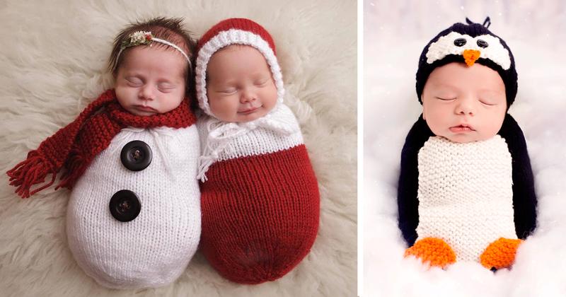 70+ малышей, которые готовы встретить свое первое Рождество (77фото)