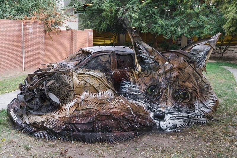 Художник создает композиции с животными, чтобы напомнить нам о загрязненности окружающей среды (28фото)