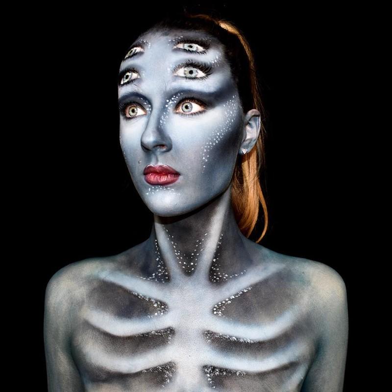 Австралийская художница создает на собственном теле фантастический боди-арт (29фото)
