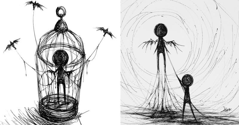 Сетевая художница-аноним рисует свое безумие (24фото)