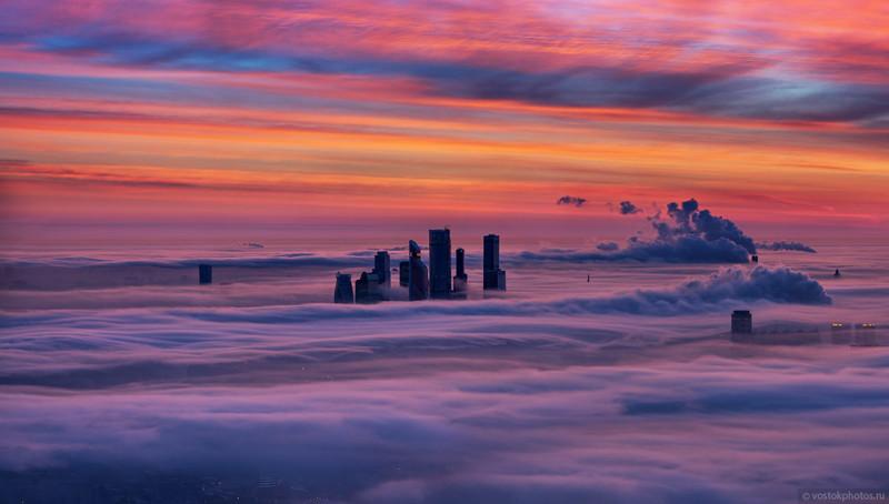 Москва под облаками (17фото)