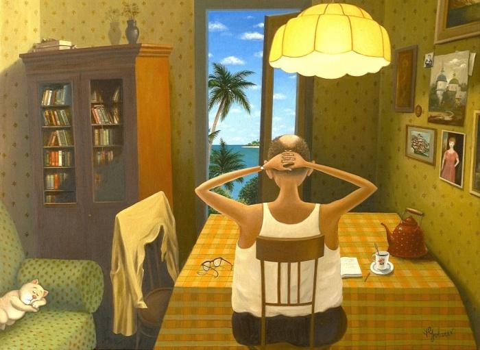 Прекрасное далёко: советское прошлое в иронично-жизненных работах Валентина Губарева (20фото)