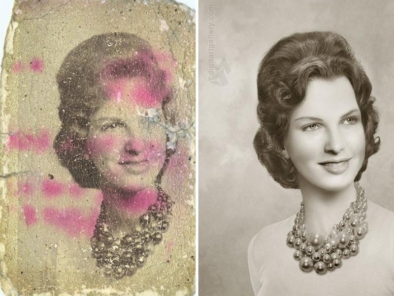 Она творит настоящие чудеса со старыми фотографиями (20фото)