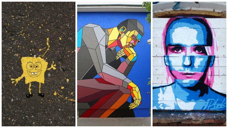 Лучшие уличные художники России (38фото)