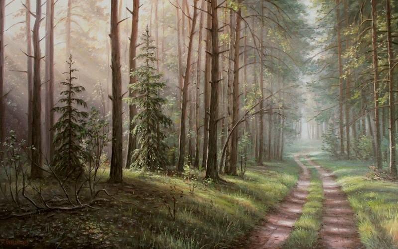 Лес в октябре фото