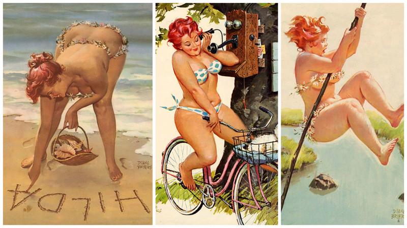 Приключения пухлой Хильды - героини стиля pin-up из 50-х (36фото)