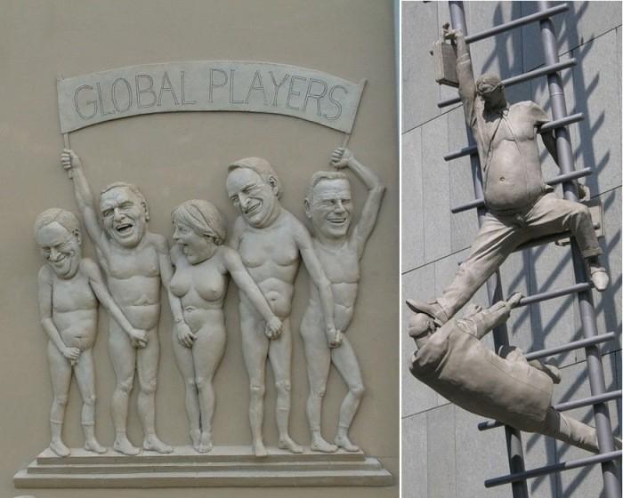 Скульптура с чувством юмора (11фото)