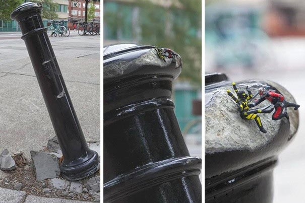 25 примеров творческого вандализма, который выглядят как современное искусство (27 фото)
