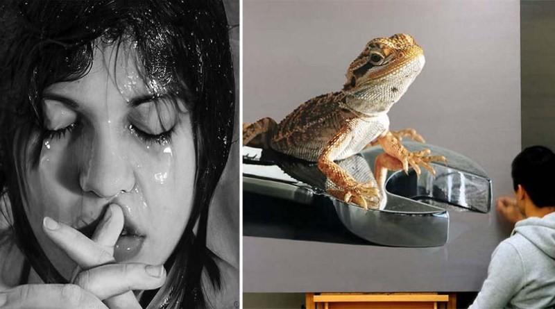 15 гиперреалистических картин, которые с огромным трудом можно отличить от фотографий (28фото)