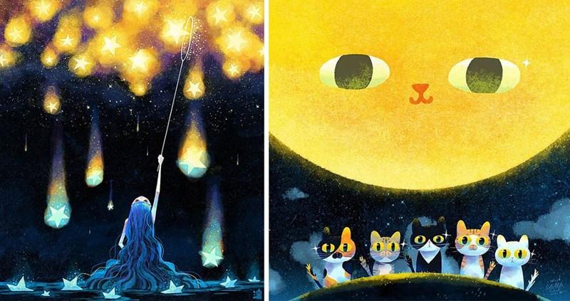 Душевные иллюстрации тайваньского художника заставят вас ощутить необычное тепло внутри себя (28фото)