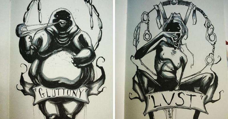 Художник приглашает заглянуть в глаза семи смертным грехам (9фото)