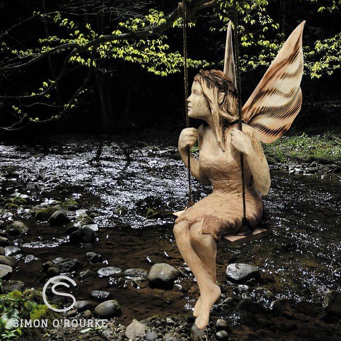 Лесная сказка: Удивительные скульптуры сделанные бензопилой (24фото)