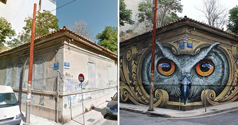 12 примеров невероятного преображения улиц с помощью граффити (13фото)