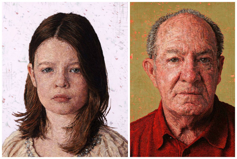 Великолепные вышитые портреты Кейси Завальи (15фото)