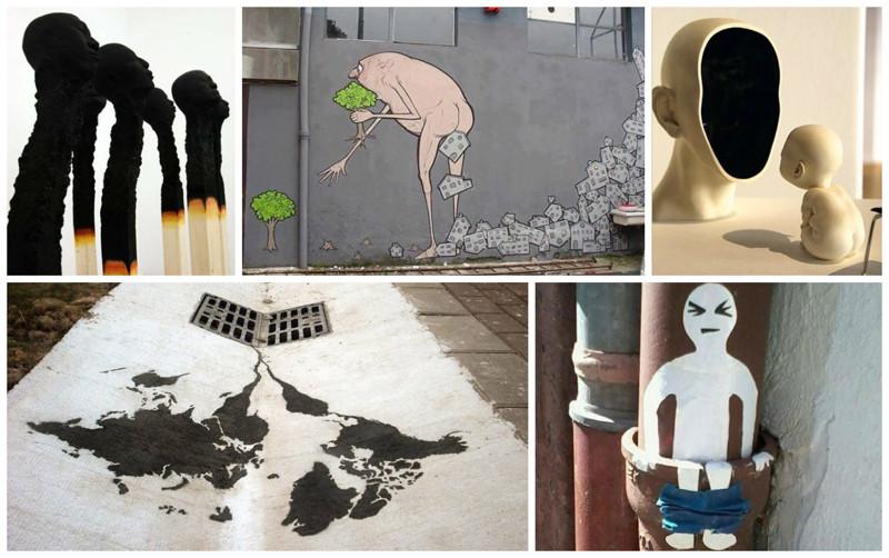 А вы угадаете, какие социальные проблемы общества освещают эти арт-объекты? (24фото)
