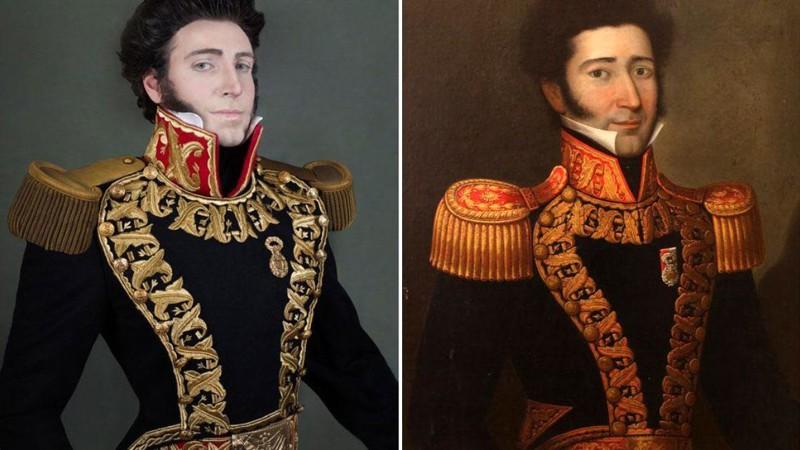 Парики, корсеты, эполеты: перуанец воссоздал портреты своих предков-аристократов (8фото)