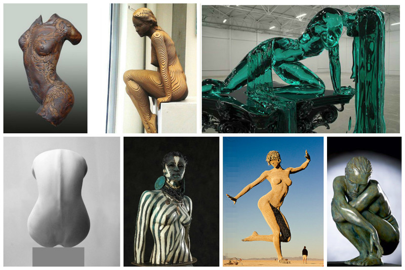 Красота женского тела в современном искусстве скульптуры (24фото)