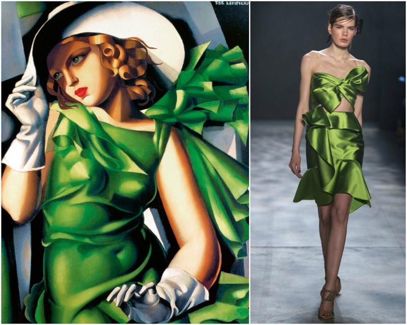 Мудборд: платья, как с легендарных картин (19фото)