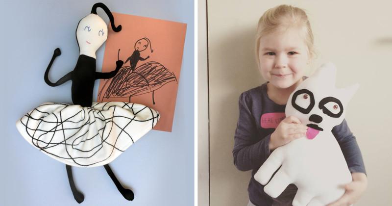 Художница шьет игрушки по мотивам детских рисунков (20фото)