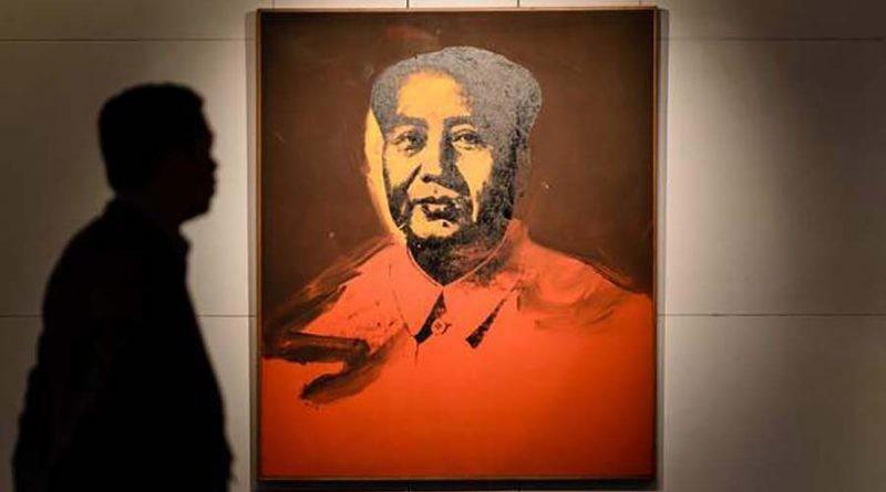 В Гонконге за 12,6 млн долларов США продали картину Энди Уорхол «Мао» (4фото)
