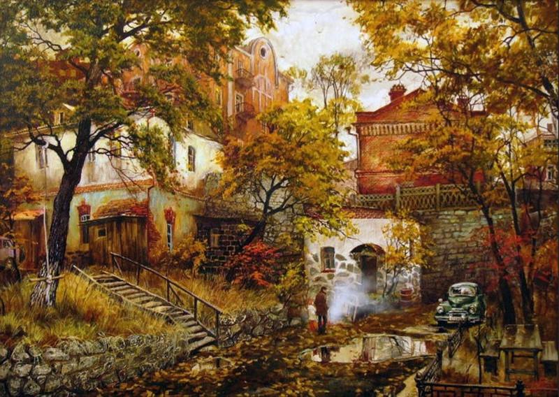 Очарование старого города в картинах Евгения и Оксаны Осиповых (23фото)