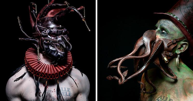 Художник творит монстров из кожи (10фото)