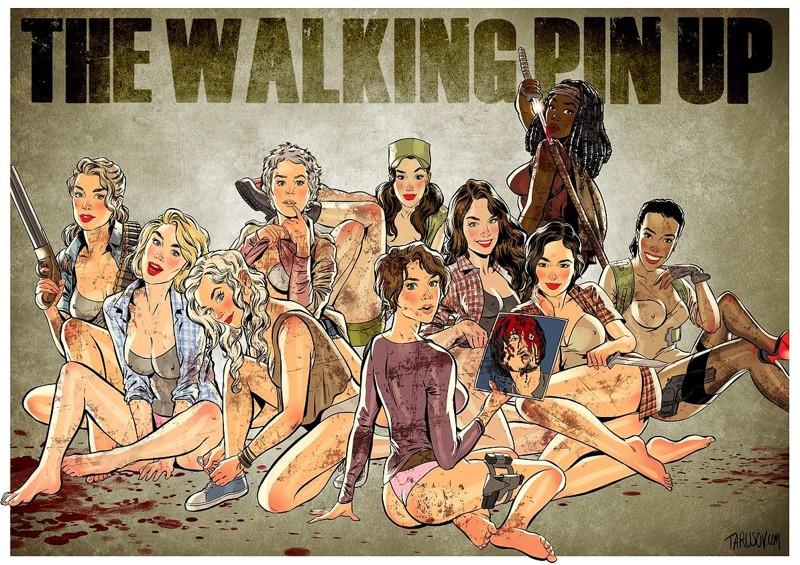 The Walking Dead в стиле пинап от Андрея Тарусова (11фото)
