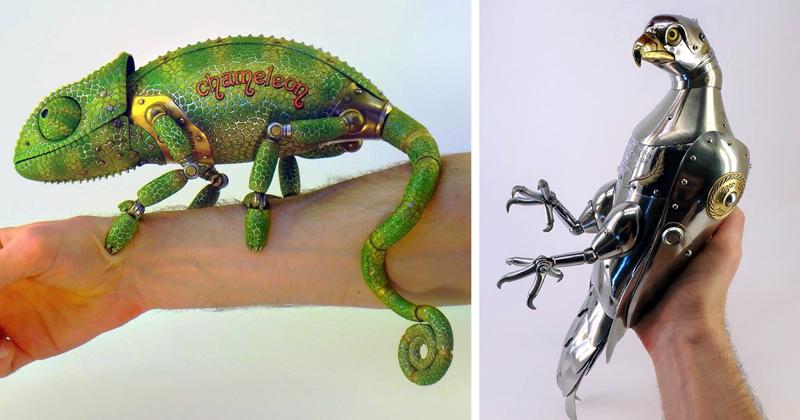 Потрясающие работы из металлолома от российского скульптора Игоря Верного (28фото)